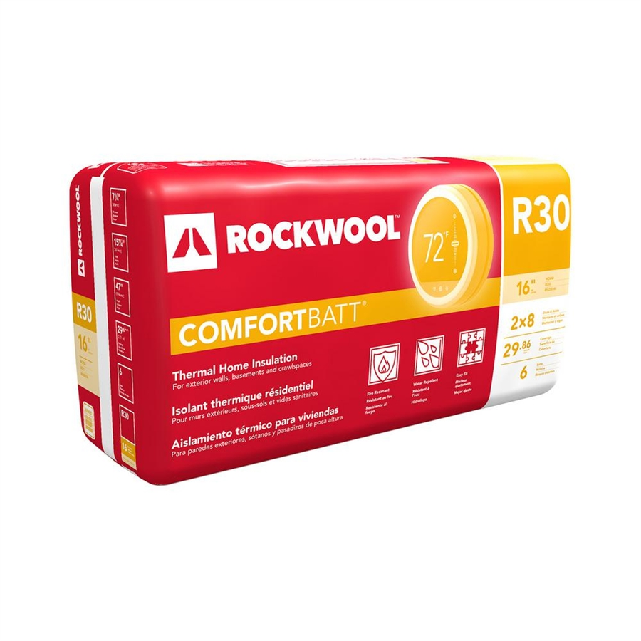 Roxul 15 x 7 1 4 r 30 insulation 30sq ft for Roxul comfortbatt pricing
