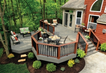 5 4x6x16 39 silver maple decking timbertech for Photo de terrasse