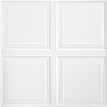 1201 Raised Panel White 2x2 6pcs Armstrong Ceiling Tile