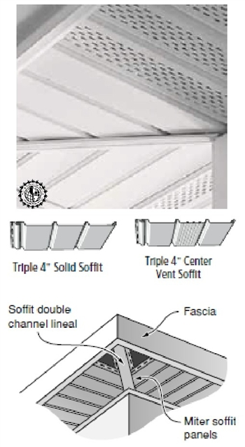 Vinyl Soffit Center Vent T 4 Wh