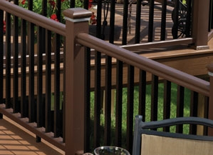Walnut Kona Rail Post Cover Timbertech 4 Quot X4x39 Quot Express